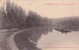 LUZANCY - Chemin Du Bois De L'Ile Péniche Chevaux Sur Chemin De Halage - Frankreich