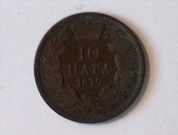 SERBIE 10 PARA 1879 - Serbie
