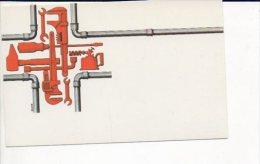"""Carte De Visite Publicitaire Vierge  """" Réparations,travaux,plomberie,chauffage"""" Illustrateur,dessin Donz - Cartes De Visite"""