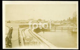 1927 REAL PHOTO POSTCARD SHIP ARRIVAL LOBITO ANGOLA AFRICA CARTE POSTALE - Mozambique