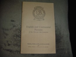 Christie's English And Continental Pictures Of The 19th And 20 Th Centuries 1974. - Livres, BD, Revues
