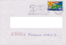 Célébrités : Flamme Melun (Seine & Marne) Championnat National Jeunesse De Philat. (challenge Pasteur) - Louis Pasteur