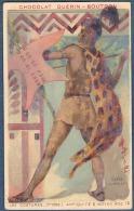 Chromo Chocolat Guerin-Boutron Costumes 1re Série Antiquité Et Moyen âge 16 Cafre Guerrier Afrique Du Sud Zoulou - Guerin Boutron