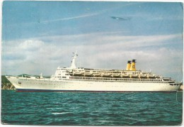 K2825 T/N Eugenio Costa - Navi Ships Bateaux / Viaggiata 1966 - Paquebote