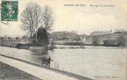 Choisy-au-bac (Oise) - Barrage Du Carendeau - Pêcheur - Edition L. Bary - Autres Communes