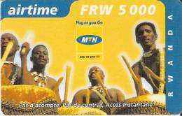 TARJETA DE RUANDA DE AIRTIME DE 5000 FRW CADUCIDAD 30-10-2004 (RWANDA)