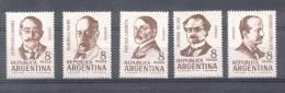 ESCRITORES ARGENTINOS RICARDO GUIRALDES ENRIQUE LARRETA LEOPOLDO LUGONES ROBERTO PAYRO RICARDO ROJAS HUECOGRABADOS - Argentine
