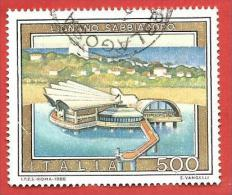ITALIA REPUBBLICA USATO - 1988 - Turismo - 15ª Emissione - Lignano Sabbiadoro - £ 500 - S. 1831 - 6. 1946-.. Repubblica
