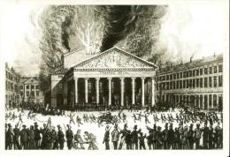 """BELGIQUE (22/01/1855) : Incendie Du Théâtre De La Monnaie. CARTE 13 DES ARCHIVES DU """"SOIR"""" ( 2005). - Catastrophes"""