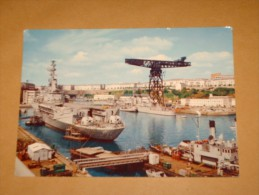 Cp CPSM Cpa 67 BREST MARINE ARSENAL Bateau Boat WAR Guerre PORTE HELICOPTERE JEANNE D´ARC MILITARIA RR FLAMME OPERATION - Guerre