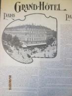 PARIS LA PLACE DE L´OPERA,LA RUE AUBER ET LE GRAND HOTEL Grande  Photo - Vieux Papiers