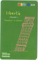 Mobilecard Thailand - 12call / AIS   - Freedom In Italien - Pisa - Schiefer Turm - Thaïland
