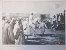 Le Sultan   Moulai Ua Maroc    Abdul Aziz  Commande Ses Troupes à Rabah Rabat - Vieux Papiers