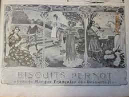 Publicité Biscuits Pernot  1903  + Benedictine  Fecamp  +  Tapis D Orient  Dalseme 18 Rue Saint Marc Paris - Vieux Papiers
