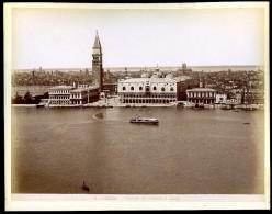 2 Photographies Originales Fin XIXème 25x19cm Venise Venezia Campanile S. Giorgio Piazza S. Marco NW43 - Ancianas (antes De 1900)