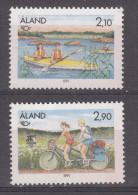 ALAND SET BIKES & CANO  MNH - Aland
