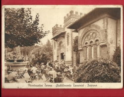 DIT-04 Montecatini Terme Stabilimento  Tamerici  Interno, ANIMATO. Cachet Montecatini Terme 1935 Per La Svizzera - Altre Città
