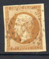 FRANCE - 1853-60 - Second Empire - Napoléon III - N° 13Ac - 10 C. Bistre-brun (Oblitération Losange Gros Chiffres) - 1853-1860 Napoléon III