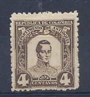 140019072  COLOMBIA  ANTIOQUA  YVERT   Nº  104  */MH - Colombia