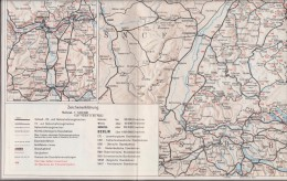 Map Of Germany And Europe From 1973 - Geographische Kaarten