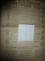 Vers 1900 Image D'EPINAL Réclame PETROLE HANN ,37,5 X 29 Cm (Les Animaux En Liberté) Texte Et Dessins De Benjamin Rabier - Pubblicitari
