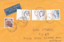 Italy 1998 Cover To Australia Women 100, 450, 650 Lire Plus Castle 200 Lire - 6. 1946-.. Republic