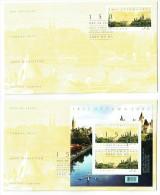 2007   Ottawa Sesquicentennial   Sc 2213-4   Single And Souvenir Sheet On 2 FDCs - 2001-2010