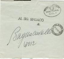 SCHEDA DI VOTO ELETTORALE, 1973, TRASMESSA DALLA PRETURA DI IMOLA, IN FRAMCHIGIA,  AL SINDACO DEL COMUNE DI BAGNACAVALLO - Documents Historiques