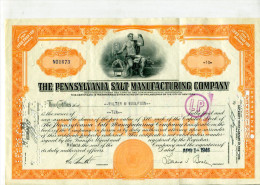 ACCIONES TITULOS SHAREHOLDING TITRES 10 THE PENNSYLVANIA SALT MANUFACTURING COMPANY YEAR 1946 TBE GECKO - Mines
