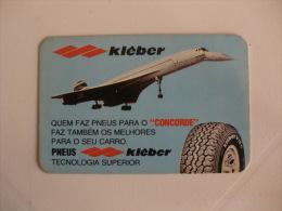 Pneus Pneumatic Kleber Concorde Portugal Portuguese Pocket Calendar 1980 - Calendars