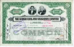 """ACCIONES TITULOS SHAREHOLDING TITRES 100 SHARES """"CANCELLED"""" THE LEHIGH COAL AND NAVIGATION COMPANY YEAR 1942 TBE GECKO - Transporte"""