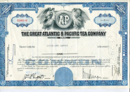 ACCIONES TITULOS SHAREHOLDING TITRES 1 SHARE THE GREAT ATLANTIC & PACIFIC TEA COMPANY YEAR 1962 TBE GECKO - Industrie
