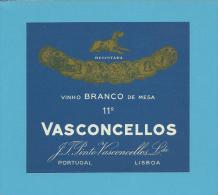 VASCONCELLOS - J. T. Pinto Vasconcellos - RÓTULO De VINHO BRANCO  WHITE WINE LABEL  PORTUGAL - Blancs