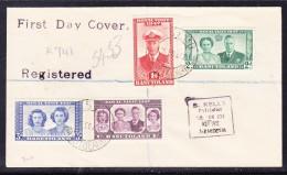 Basutoland 1947 Royal Visit REGISTERED First Day Cover To Northern Rhodesia - Basutoland (1933-1966)