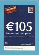 BRITISH AIRWAYS - ADVERTISING - € 105  - LONDRES ESTÁ MAIS PERTO - Portugal - 2 Scans - Publicidad