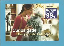 LUFTHANSA - ADVERTISING - CURIOSIDADE - EUROPA Desde 99 € - 2 Scans - Publicidad