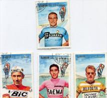 CYCLISME(6 TIMBRES) AJMAN - Cyclisme