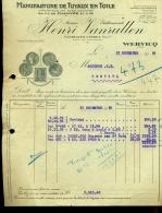 HENRI  VANRULLEN   /  MANUFACTURE DE TUYAUX EN TOILE  /  WERVICQ SUD - France