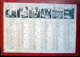 CALENDRIER  ANNEE 1842  TRES ANCIEN  XYLOGRAPHIES ROMANTIQUES   EPOQUE  LOUIS  PHILIPPE - Calendarios