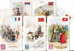 [DC5265] CARTOLINA - SERIE 7 CARTOLINE STORIA DELLA POSTA NEL MONDO - SUL RETRO LYSOFORM - Non Viaggiata - Old Postcard - Postal Services