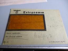 ENVELOPPE TELEGRAMME 3 EME REICH ALLEMAND AVEC SON TELEGRAMME - Documents