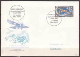 Schweiz , FDC , 1963 , Mi. Nr. 780 , 25 Jahre Pro Aero - FDC
