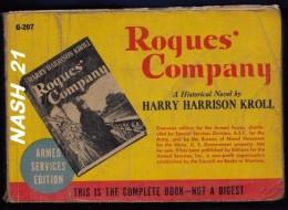 Livre De 1943 ''  Roques Company '' By Harry HARRISON KROLL   -  Editions  Armées U.S  En  413 Pages - US Army