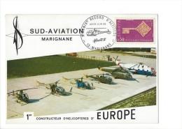 11526 - Sud-Aviation Marignane 22-23 Juin 1968 1er Constructeur D'Hélicoptères D'Europe - Maximumkarten