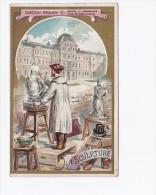 Chromo Chocolat Poulain : La Sculpture (métier) :série Les Arts - Poulain