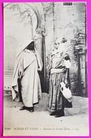 Cpa Bédouine Et Femme Arabe Scène Et Type Carte Postale Algérie N°6449 - Algérie