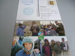 2 CARTES POSTALES DU KOMMANDO ALLEMAND AUCON/ISAF  KABUL - Documents