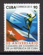 TIMBRE CUBA 2013 CAMARA DE COMERICO BANDERA DE CUBA - CHAMBRE DE COMMERCE DU PAVILLON DE CUBA - Sellos