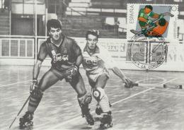 Carte-Maximum ESPAGNE N°Yvert 2573 / Hockey Sur Patin - Tarjetas Máxima