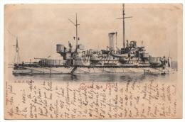 ALLEMAGNE - KIEL - Gruss Aus Kiel - SMS Hagen - 1899 - RARE - Kiel